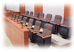Jury Box in Courtoom